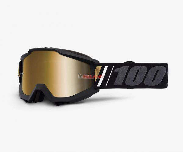100% Brille: Accuri Off, schwarz/grau gold verspiegelt