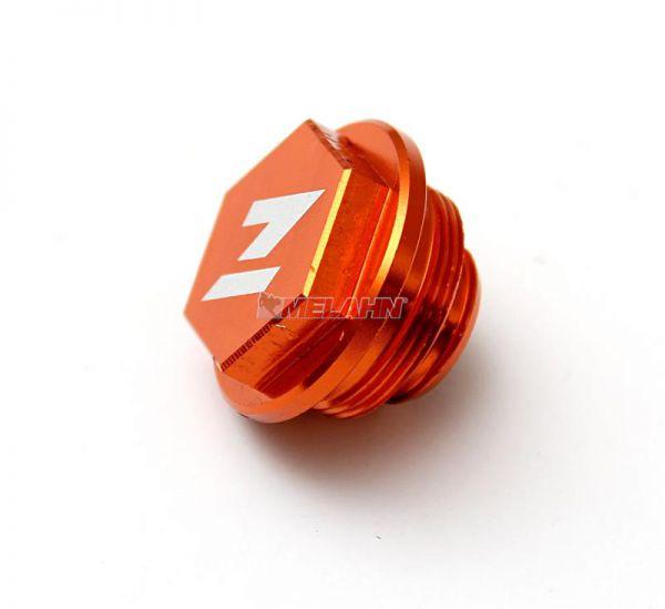 ZAP Aluminium-Deckel Fußbremszylinder KTM, orange