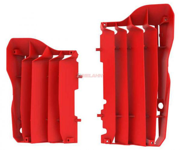 POLISPORT Kühlerschutz (Paar) CRF 250 18- / 450 17-, rot