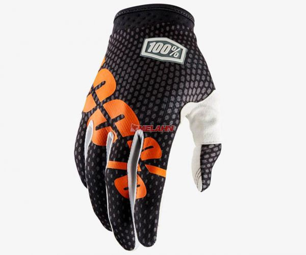 100% Handschuh: I-Track, grau/orange