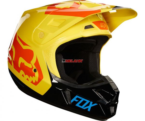 FOX Helm: V2 Preme, schwarz/gelb