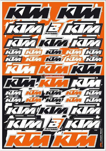 BLACKBIRD Aufkleber-Kit: KTM, universal, 42-teilig