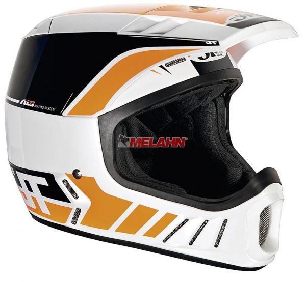 JT Helm: ALS-02, weiß/schwarz/orange