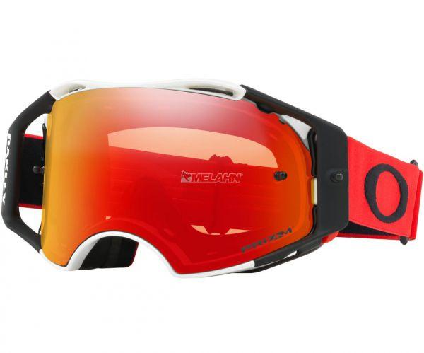 OAKLEY Brille: Airbrake Prizm MX Red White, weiß/rot/torch-iridium