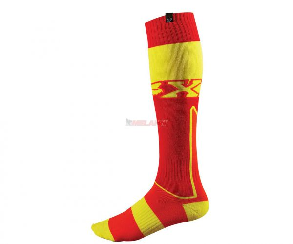 FOX Socken: FRI (Paar), dick, rot/gelb