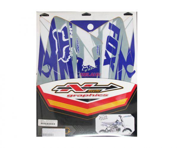N-STYLE Tankdekor FOX CRF 50, blau