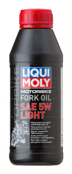 LIQUI MOLY Gabeöl: Motorbike Fork Oil 5W light, 1l