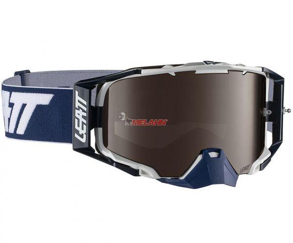 LEATT Brille: VELOCITY 6.5 IRIZ, ink weiß/blau