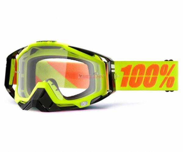 100% Brille: Racecraft Neon Sign, neon-gelb/schwarz