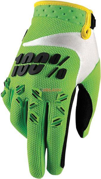 100% Kids Handschuh: Airmatic , grün