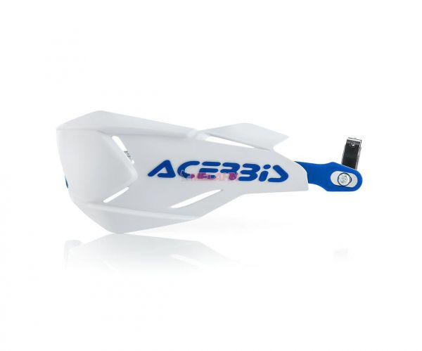 ACERBIS Handprotektor (Paar): X-Factory, weiß/blau