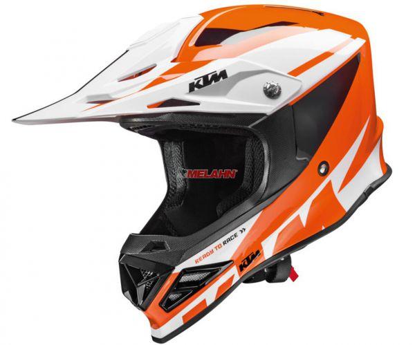 KTM Helm: Dynamic-FX, orange/weiß/schwarz