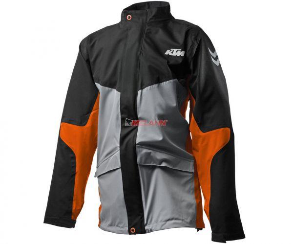 KTM Regenjacke, schwarz/grau/orange