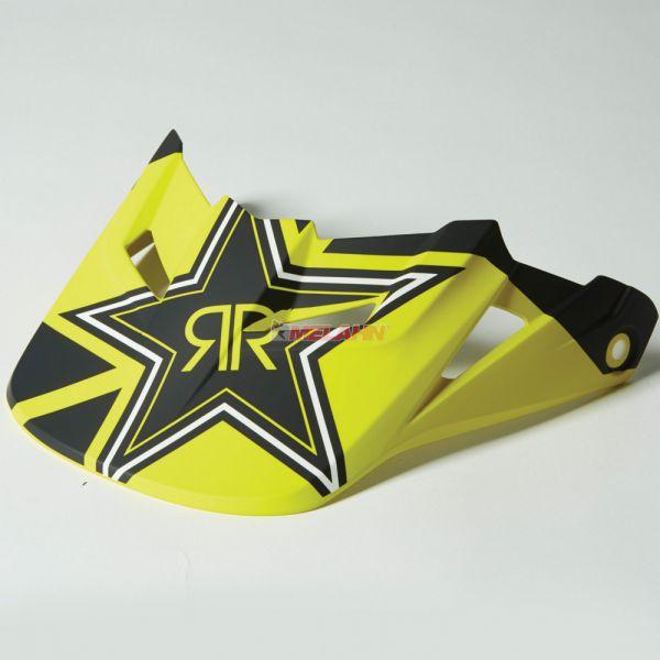 FOX Helmschirm: V1 (2014) Rockstar, schwarz/gelb