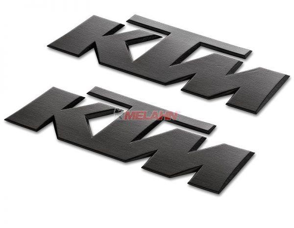 KTM 3D-Aufkleber, schwarz, 2 Stück