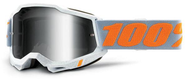 100% Brille: Accuri 2 Speedco, weiß/gelb