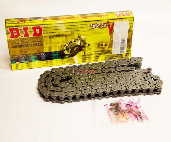 D.I.D. Kette 525 VX, 118 Gl., schwarz