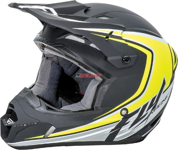 FLY Helm: Kinetic Flex, matt-schwarz/neon