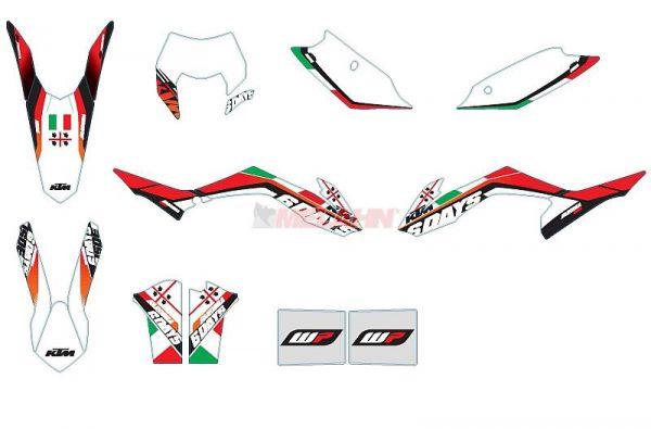 KTM Dekor-Kit Six Days Sardinien 2013, EXC 14-15