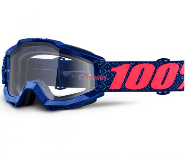 100% Accuri Futura Goggle Motocross MTB MX Enduro Cross Brille, blau/pink
