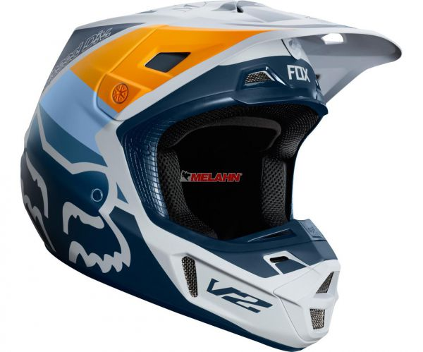 FOX Helm: V2 Murc, graublau/orange