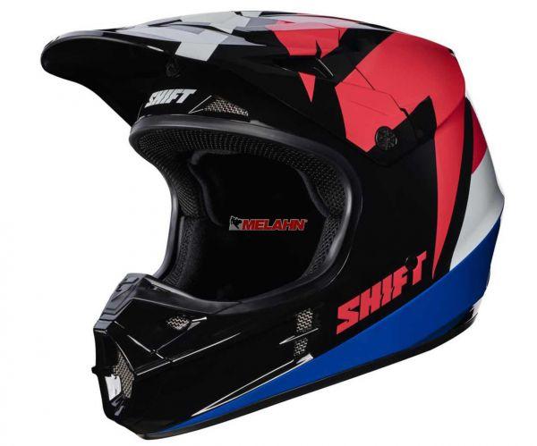 SHIFT Helm: V1 Whit3 Tarmac, schwarz