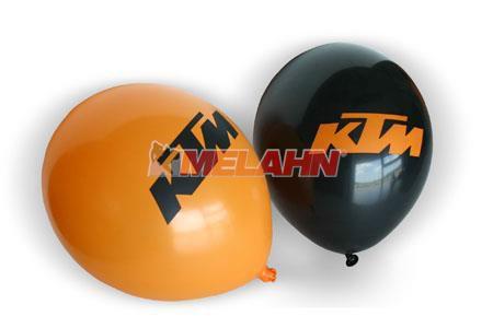 KTM Luftballon 100 Stück, orange/schwarz
