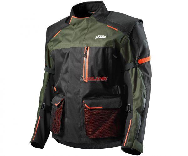 KTM Jacke: Defender, schwarz/oliv/orange
