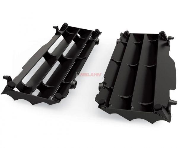 POLISPORT Kühlerschutz (Paar) HVA (außer TC 250) / KTM SX (außer 250 2T) 16-18, schwarz