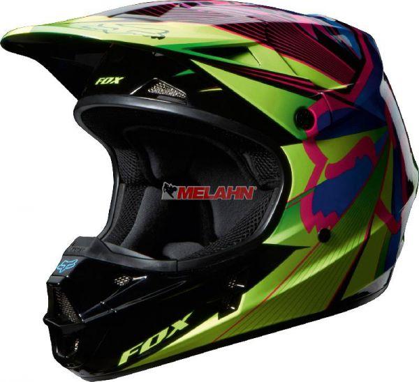 FOX Helm: V1 Radeon, grün