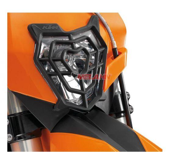 KTM Scheinwerferschutz Plastik 08-13, schwarz