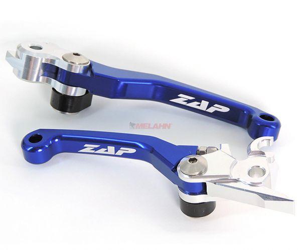 ZAP Flex-Kupplungs-/Bremshebel-Set KTM/HUS/HVA (Brembo) 06-13, blau