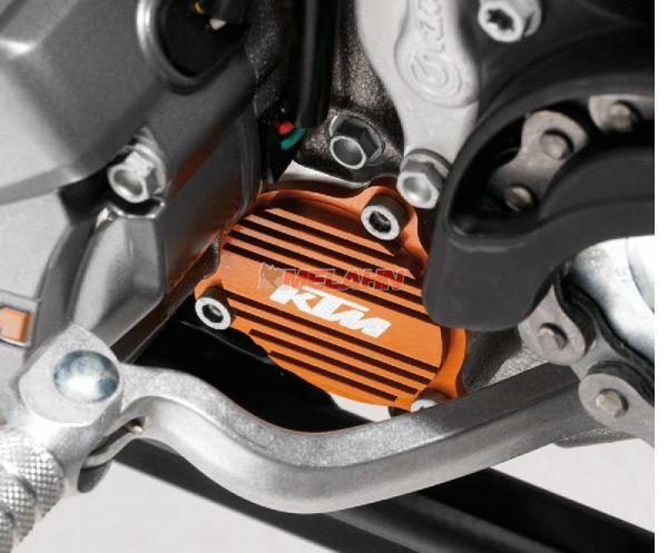 KTM SXS Aluminium-Ölpumpendeckel 350-500 EXC / 250-450 SX-F, orange