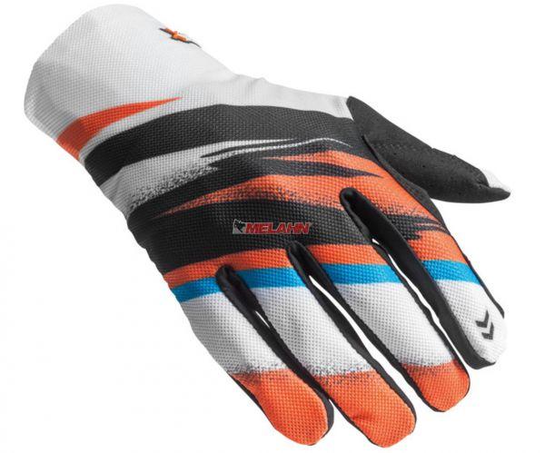 KTM Handschuh: Gravity-FX, schwarz/orange/weiß/blau