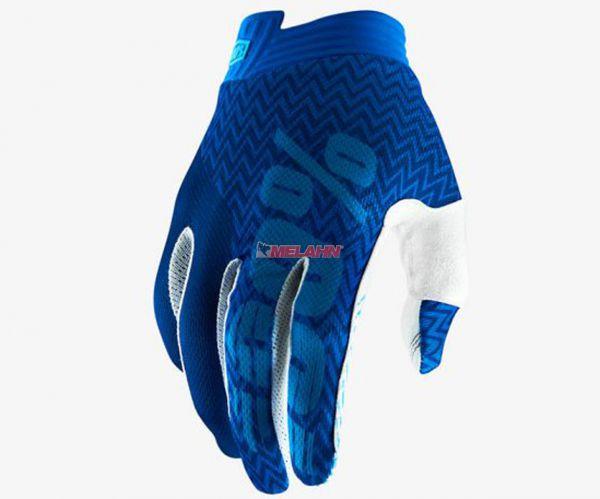 100% Handschuh: I-Track, blau/navy