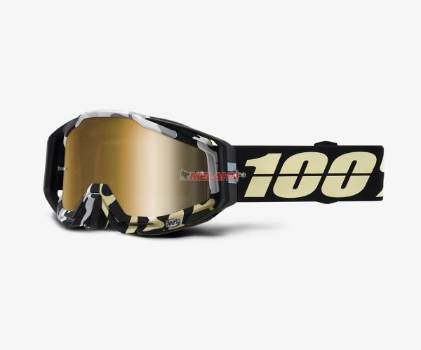 100% Brille: Racecraft Ergoflash, schwarz gold verspiegelt