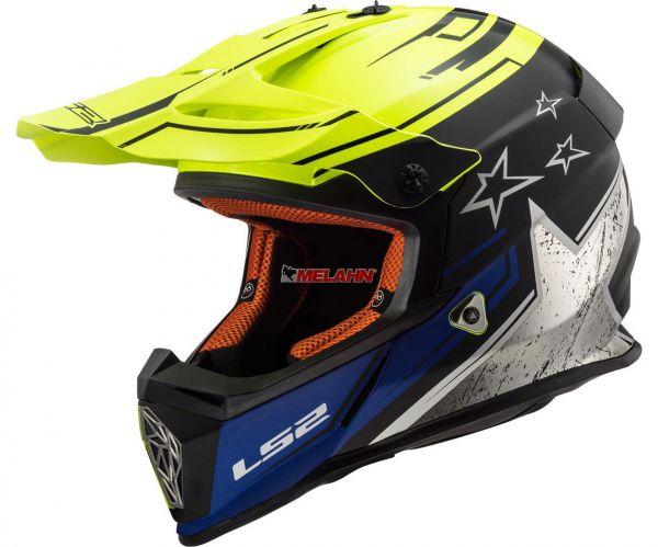 LS2 Helm: Fast MX 437, Core, neongelb/schwarz/blau