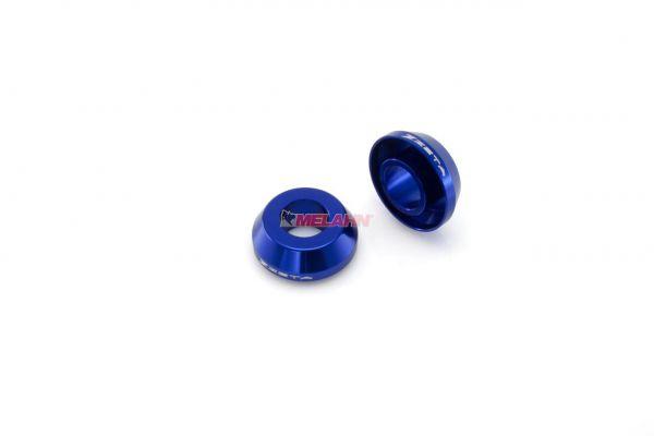 ZETA Aluminium Radbuchsen: FastSpacer (Paar), für Radlager hinten YZ/YZF/WR, blau