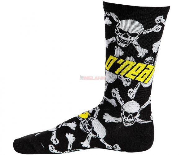 ONEAL Socke (Paar): Crew Crossbone, schwarz/weiß/gelb