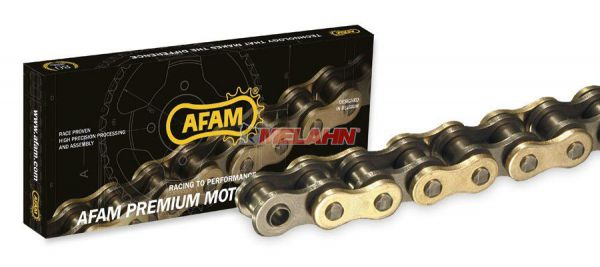 AFAM Kette 520 X-Ring MX gold, 118 Gl.