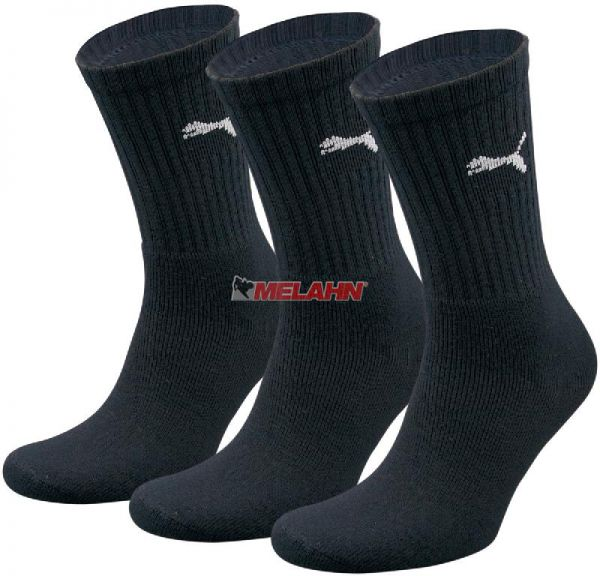 PUMA Socke (3er Pack): Unisex Crew, schwarz