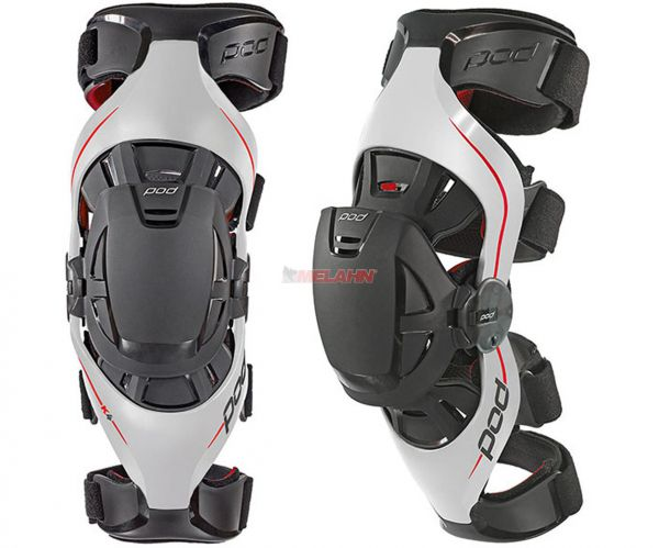 POD MX Knee-Brace (Paar): K4, weiß