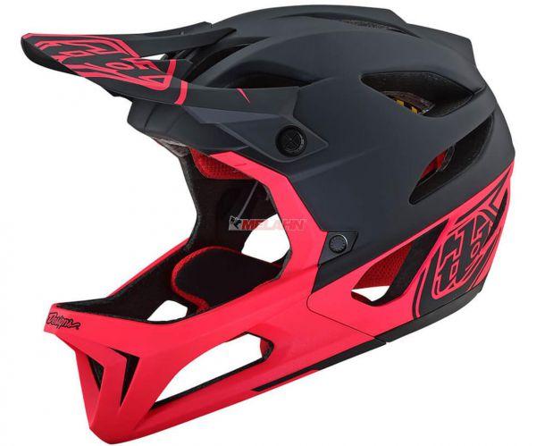 TROY LEE DESIGNS MTB-Helm: Stage (MIPS), Stealth black/pink