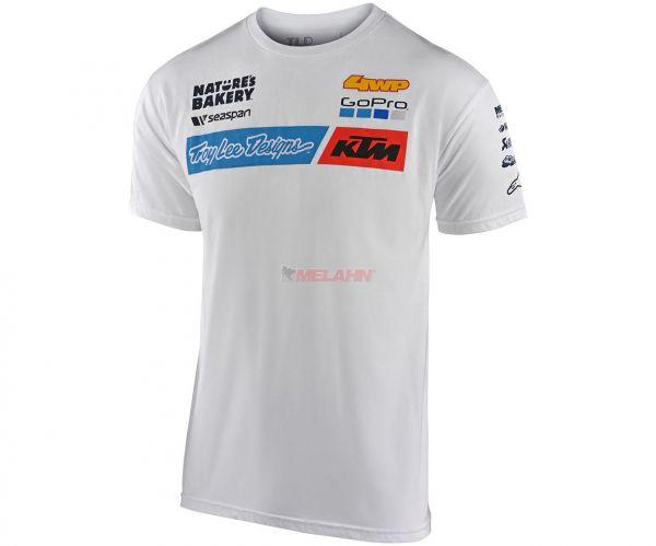TROY LEE DESIGNS T-Shirt: KTM Team, weiß