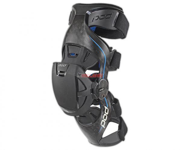 POD MX Knee-Brace (Paar): K8 Carbon, schwarz/blau