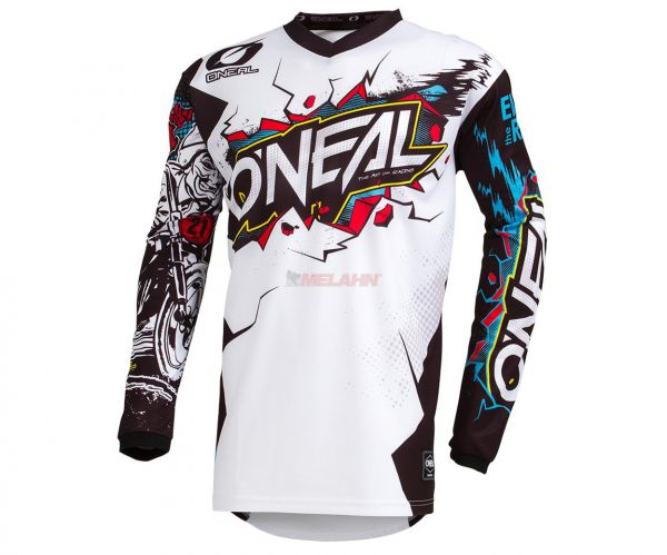 ONEAL Youth Jersey: Element VILLAIN, weiß/schwarz/multi