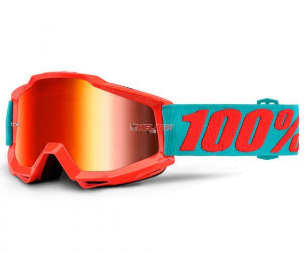 100% Kids Brille: Accuri Passion, orange/türkis