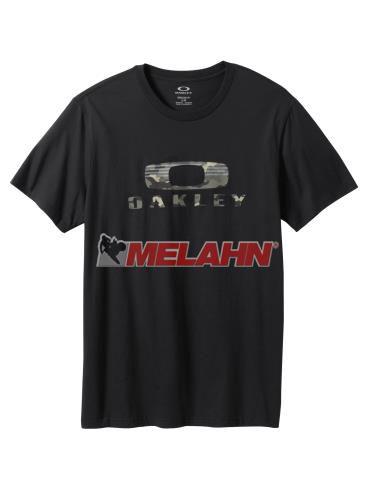 OAKLEY T-Shirt: Camo Nest, schwarz