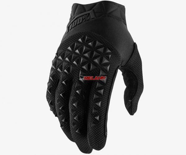 100% Handschuh: Airmatic , schwarz/grau