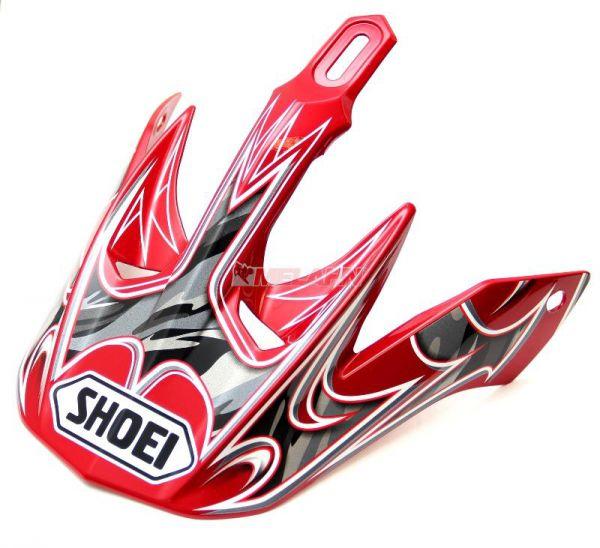 SHOEI V-Moto Helmschirm Visor, weiß/rot